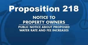 Prop 218 Notice